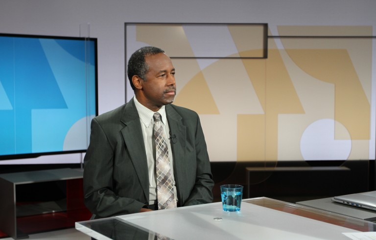 Ben Carson with NewsHour's Gwen Ifill