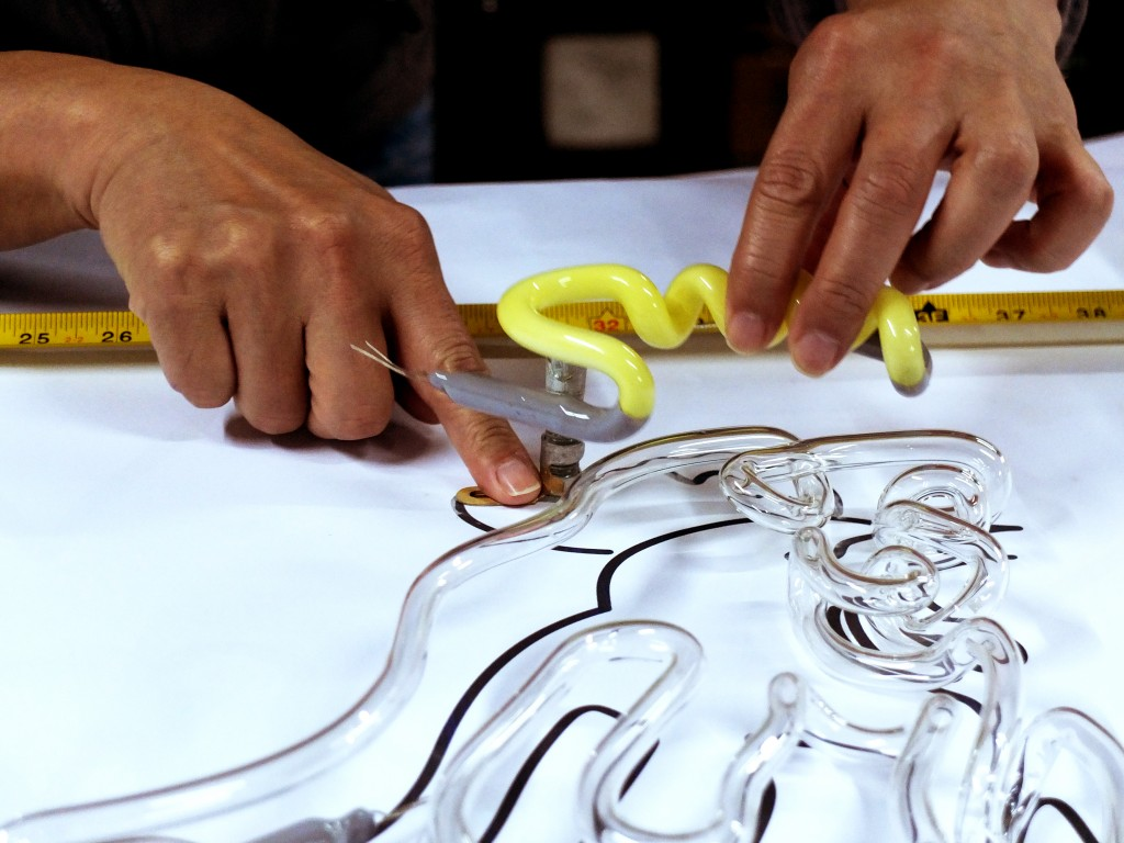 "The process of neon glass bending is featured in ""The Making of Neon Signs,"" a specially-commissioned video produced for ""Mobile M+: NEONSIGNS.HK."" Photo and caption courtesy of M+ Museum"