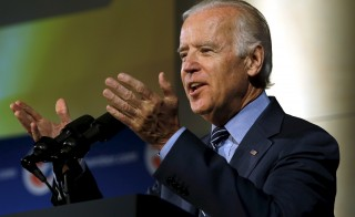 Vice President Joe Biden has hired the former spokeswoman for John Edwards' 2008 presidential campaign to be his new communications director. A presidential bid was encouraged and supported by Biden's late son Beau, but Biden has yet to decide whether or not he will run. Photo by Yuri Gripas/Reuters
