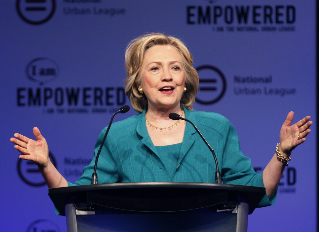 Democratic presidential candidate Hillary Clinton speaks at the National Urban League's conference in Fort Lauderdale, Florida on July 31,2015. Clinton recently released tax and medical records in what is being assumed as an effort to show transparency. Photo by Andrew Innerarity/Reuters