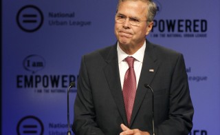Republican presidential candidate and former Florida governor Jeb Bush speaks at the National Urban League's conference in Fort Lauderdale, Florida July 31, 2015. The largest Florida corporate donor to pro-Bush super PAC Right to Rise is the parent company of the Florida Power & Light utility. Photo by Andrew Innerarity/Reuters
