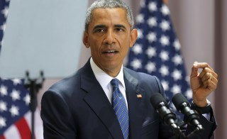 U.S. President Barack Obama delivers remarks on a nuclear deal with Iran at American University in Washington on August 5, 2015. Obama has already stated he will veto the decision from Congress should they turn down the nuclear deal, the question now is if Congress will be able to override his veto. Photo by Jonathan Ernst/Reuters