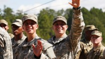 Capt. Kristen Griest of Orange, Connecticut (L) and 1st Lt. Shaye Haver of Copperas Cove, Texas made history on Friday as they became the first females to graduate from the Army's elite and grueling 62-day Ranger school, at Fort Benning, Georgia. The Army's new chief of staff, Gen. Mark Milley is considering if he should recommend to Defense Secretary Ash Carter that some combat roles remain restricted to men only. Photo by Tami Chappell/Reuters