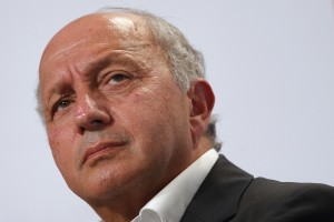 """French Foreign Affairs Minister Laurent Fabius attends the Socialist Party's """"Universite d'ete"""" summer meeting in La Rochelle, France, August 28, 2015. Photo by Stephane Mahe/Reuters."""