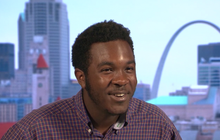 Melvin Bozeman, a young opera singer from Ferguson, speaks to Nine Network about his experience growing up there and staying positive in the face of adversity.