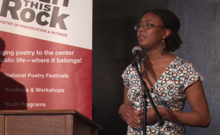 "Poet Camisha Jones reads ""Ode to a Chronically Ill Body"" on July 19, 2015."