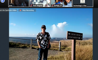 Photographer Dominic Phillips leads a virtual tour of -------- volcano in -------- Hawaii. Screen grab from Google+