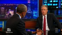 jon stewart with Obama