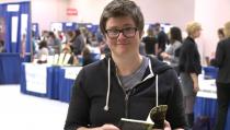"""Poet Lauren Haldeman read her poem """"Jealous"""" at the 2015 AWP Conference in Minneapolis."""