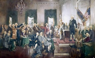 Signing of the U.S. Constitution. Painting by artist Howard Chandler Christy, 1940