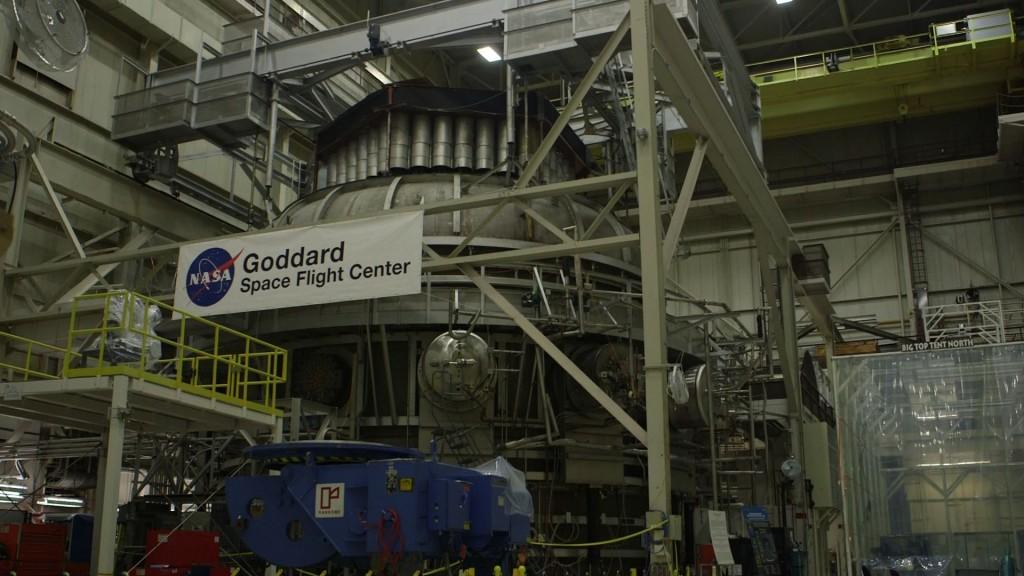 40-foot-tall vacuum chamber at NASA Goddard Space Flight Center. Photo by Mike Fritz