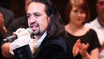 NEW YORK, NY - AUGUST 06:  Lin-Manuel Miranda during the Broadway opening night performance of 'Hamilton' at the Richard Rodgers Theatre on August 6, 2015 in New York City.  (Photo by Walter McBride/WireImage)