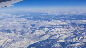 northwestern Canada/ mountain range, Canada, North America, aerial photography