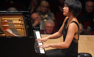 Yuja Wang performing the music of Schubert, Liszt, Scriabin and Balakirev at Carnegie Hall on Thursday night, December 11, 2014.(Photo by Hiroyuki Ito/Getty Images)