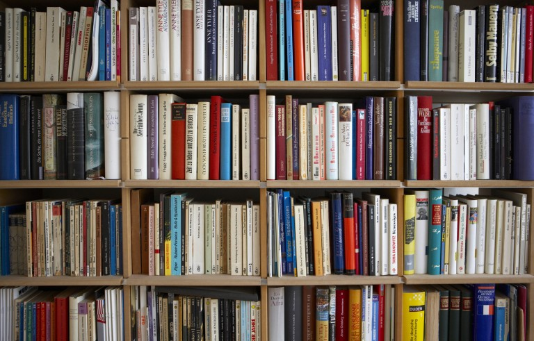 Various books on shelf, full frame. Photo by Getty Images