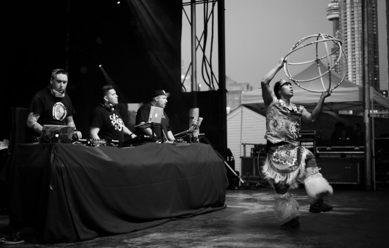 A Tribe Called Red is mixing Native Canadian pow wow with electronic dance music to create a unique sound. Photo by Falling Tree Photography