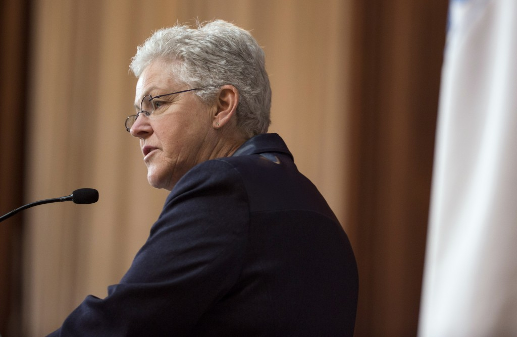 Environmental Protection Agency (EPA) Administrator Gina McCarthy said Monday that new rules on toxic pesticides would make working conditions safer for millions of agricultural workers. Photo by Joshua Roberts/Reuters