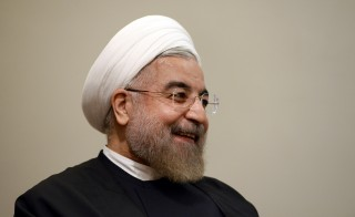 Iran's President Hassan Rouhani during a meeting with U.N. Secretary-General Ban Ki-moon at last year's U.N. General Assembly in New York. Photo by Jewel Samad/Pool/via Reuters