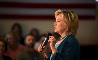 U.S. Democratic presidential candidate Hillary Clinton speaks at the Community Forum on Substance Abuse at The Boys and Girls Club of America campaign event in Laconia, New Hampshire, September 17, 2015.    REUTERS/Faith Ninivaggi - RTS1MSA