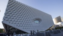 A general view of The Broad Museum prior to a dinner gala in Los Angeles, California, September 17, 2015. The new museum built by philanthropists Eli and Edythe Broad, featuring their collection of modern art, will open to the public on September 20. REUTERS/Mario Anzuoni - RTS1O3T