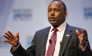 According to the Monmouth University poll released Monday, Republican candidate Dr. Ben Carson moves ahead of Donald Trump in the Iowa caucuses. Trump has vowed to stay in the presidential race, despite losing his frontrunner status. Photo by Chris Keane/Reuters