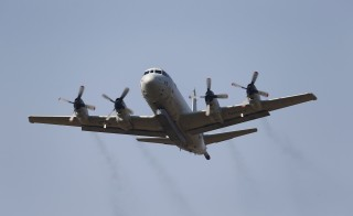 File photo of a U.S. Navy P-3 Orion patrol aircraft by Umit Bektas/Reuters