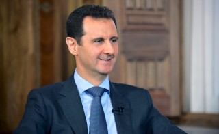 Handout photo of Syrian President Bashar al-Assad by Syria's national news agency SANA via Reuters