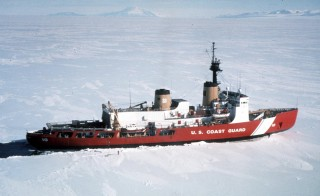 United States Coast Guard Heavy Icebreaker Polar Star is shown in this undated photo in Antarctica. President Barack Obama will propose a faster timetable for buying a new heavy icebreaker for the U.S. Arctic, where quickly melting sea ice has spurred more maritime traffic, and the United States has fallen far behind Russian resources. Photo by U.S. Coast Guard/Handout