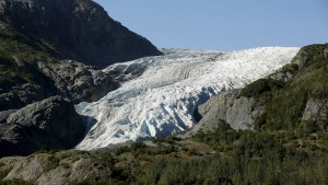 A general view of the Exit Glacier is seen at Kenai Fjords National Park in Seward, Alaska, September 1, 2015. President Barack Obama on Tuesday proposed a faster timetable for buying a new heavy icebreaker for the U.S. Arctic, where quickly melting sea ice has spurred more maritime traffic and the United States has fallen far behind Russian resources. REUTERS/Jonathan Ernst? - RTX1QNPC