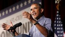 U.S. President Barack Obama speaks at the Greater Boston Labor Council Labor Day Breakfast in Boston, Massachusetts September 7, 2015.  REUTERS/Kevin Lamarque  - RTX1RI3J