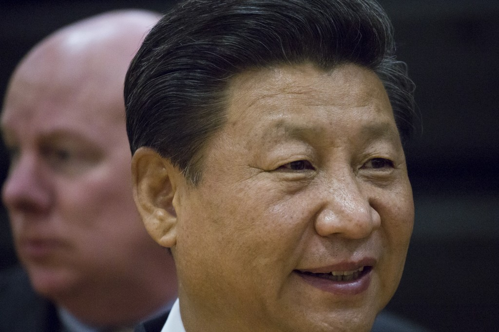 Chinese President Xi Jinping visits Lincoln High School in Tacoma, Washington, Sept. 23, 2015. David Ryder/Reuters