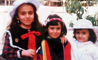Rusul Alrubail, left, with her sister and cousin in Baghdad around 1990. Photo courtesy of  Rusul Alrubail