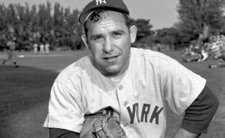 Yogi Berra poses for a portrait during Spring Training circa 1950s in St. Petersburg, Florida. Photo by Kidwiler Collection/Diamond Images/Getty Images