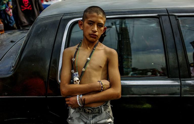 A boy in Tepito, Mexico City. Photo by Adriana Zehbaruskas