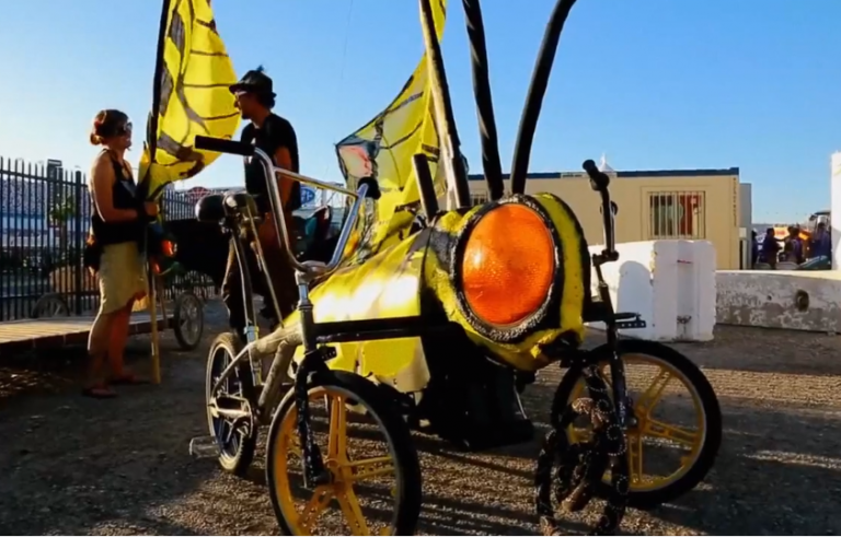 People ride on the creations of Austin Bike Zoo. Photo by Chelsea Hernandez