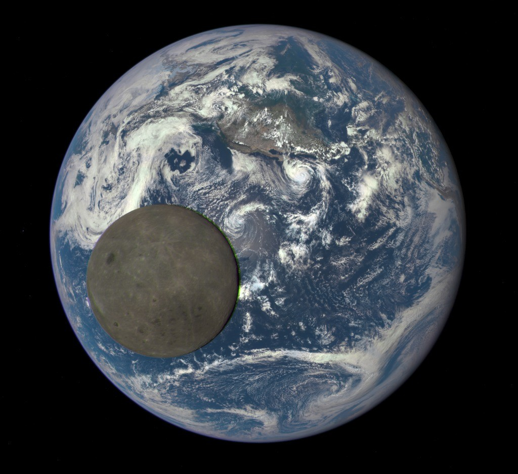 A never-before-seen image of the far side of the moon, as captured by NASA.  Image by NASA, NOAA/DSCOVR