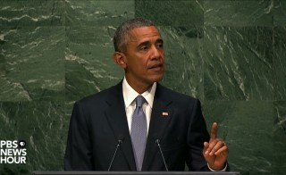 Obama, seen above addressing the UNGA, has stated he will no longer sign temporary spending bills.