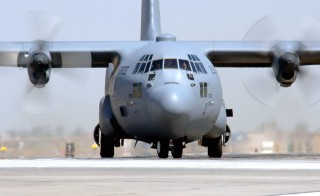 A C-130 Hercules transport plane similar to the one in this file image crashed in Afghanistan. Photo by  U.S. Air Force photo/Staff Sgt. Tony R. Tolley