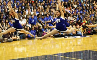 Rogers High School's dance squad performs at the Homecoming Assembly. Photo courtesy of Rogers Public Schools.