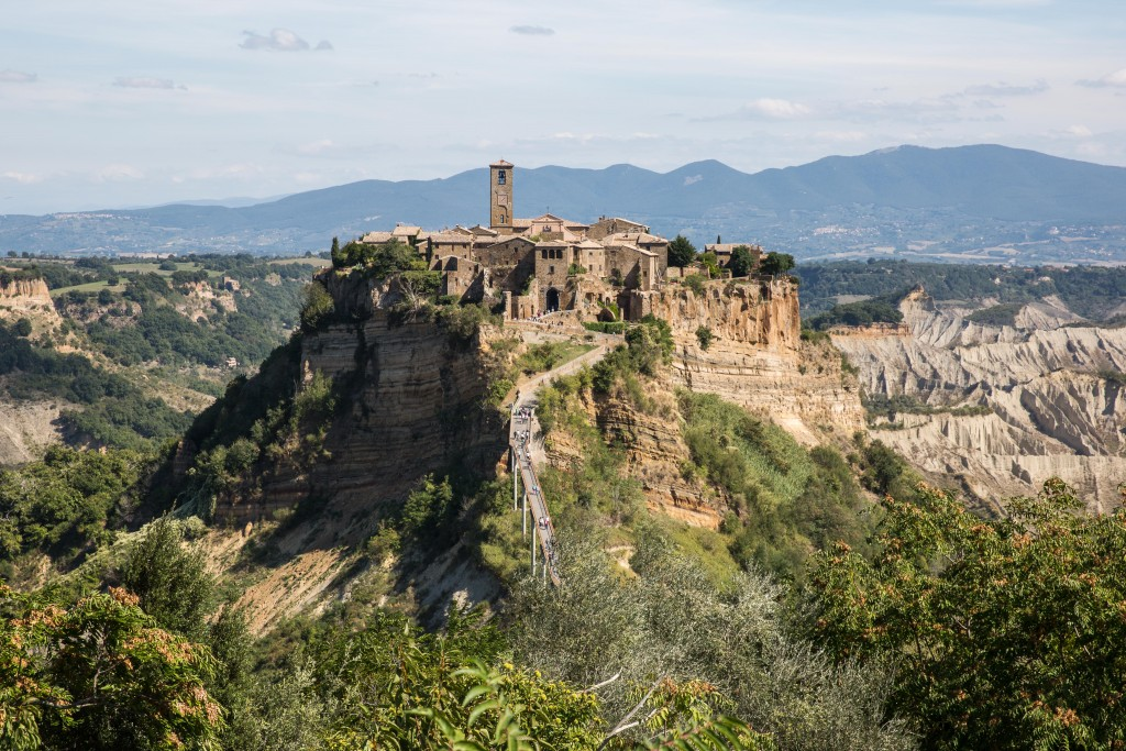 """Civita di Bagnoregio, known as the """"dying town,"""" is a small hilltop community in the Lazio province of Central Italy. Photo by Frank Carlson"""