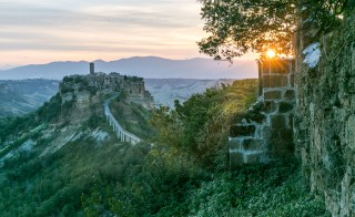 A quiet alley in Civita di Bagnoregio, a hilltop town with somewhere around seven year-round residents. Photo by Frank Carlson