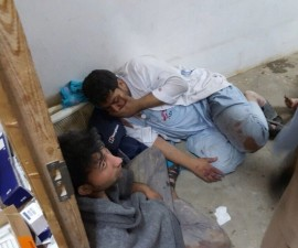 Doctors Without Borders, MSF, staff are seen after a U.S. airstrike on a MSF hospital in Kunduz, Afghanistan on Oct. 3, 2015. A U.S. commander said Monday that Afghan officials requested the U.S. airstrike Saturday morning that destroyed a Kunduz hospital and killed 22 people. Monday's statement retracted the U.S. military's initial report that a strike was launched because American forces were under attack. Photo by MSF/Pool/Anadolu Agency/Getty Images