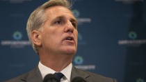 UNITED STATES - October 7: House Majority Leader Kevin McCarthy, R-Calif., speaks during a news conference on Capitol Hill in Washington, Wednesday, October 7, 2015. As McCarthy is the current front runner for the upcoming vacancy for Speaker of the House, after John Boehner, R-Ohio, announced that he would resign at the end of October, conservatives are trying to stop him. (Photo By Al Drago/CQ Roll Call)