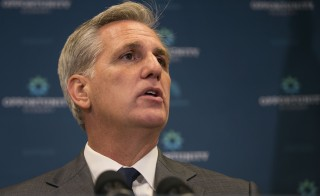 House Majority Leader Kevin McCarthy, R-Calif., speaks during a news conference on Capitol Hill in Washington, Wednesday, October 7, 2015. As McCarthy is the current front runner for the upcoming vacancy for Speaker of the House, after John Boehner, R-Ohio, announced that he would resign at the end of October, conservatives are trying to stop him. Photo By Al Drago/CQ Roll Call