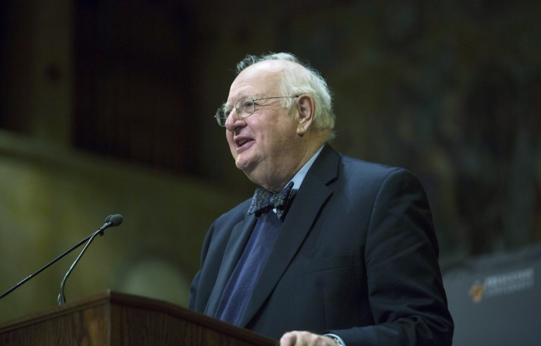 """PRINCETON, NJ - OCTOBER 12:  Princeton Professor Angus Deaton speaks about winning the Nobel Prize in Economics at a press conference on October 12, 2015 in Princeton, New Jersey. The Nobel Committee said: """"To design economic policy that promotes welfare and reduces poverty, we must first understand individual consumption choices. More than anyone else, Angus Deaton has enhanced this understanding."""" (Photo by Jessica Kourkounis/Getty Images)"""