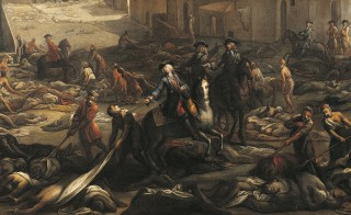 "Scene from ""The plague in Marseilles in 1721"" by Michel Serre. The Great Plague of Marseilles was the last large-scale European outbreak of the disease. Photo by DEA / G. DAGLI ORTI/via Getty Images"