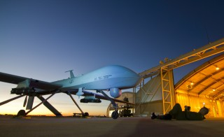 A U.S. Air Force MQ-1 Predator unmanned aerial vehicle assigned to the California Air National Guard's 163rd Reconnaissance Wing undergoes a postflight inspection at the Southern California Logistics Airport in Victorville, California in January 2012. Image by   REUTERS/U.S. Air Force/Tech. Sgt. Effrain Lopez/Handout
