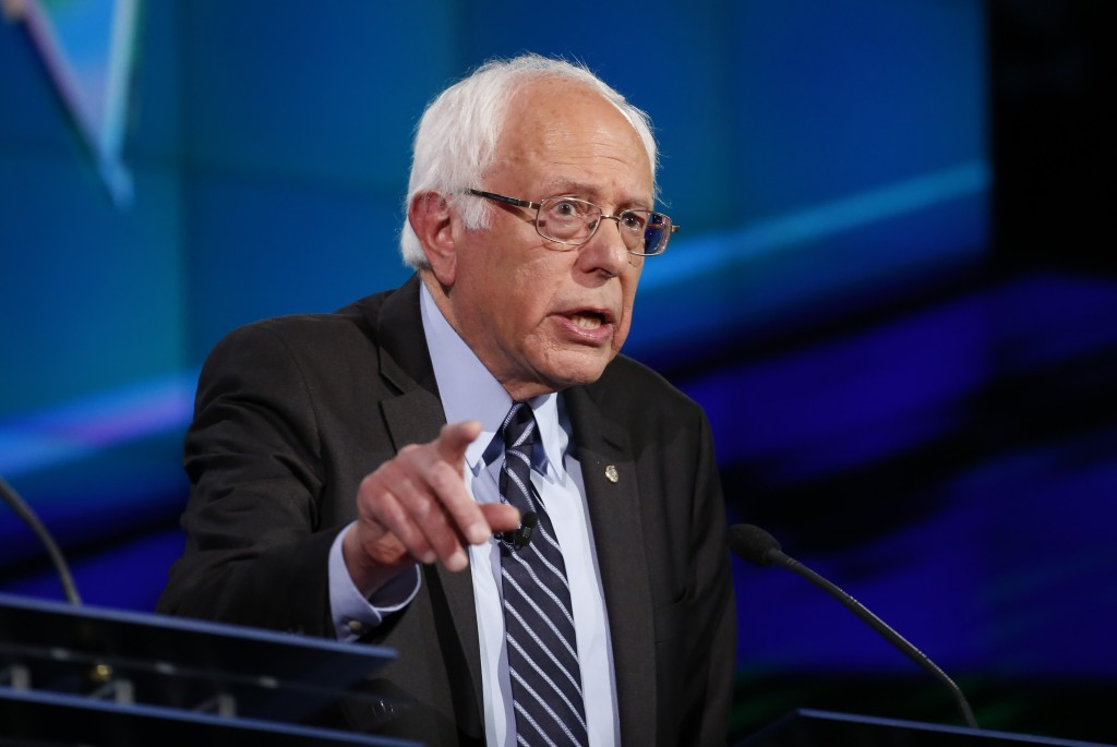 Democratic presidential candidate U.S. Senator Bernie Sanders speaks during the first official Democratic candidates debate of the 2016 presidential campaign in Las Vegas, Nevada. Photo by Lucy Nicholson/Reuters