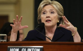 Democratic presidential candidate Hillary Clinton testifies before the House Select Committee on Benghazi, on Capitol Hill in Washington October 22, 2015. The congressional committee is investigating the deadly 2012 attack on the U.S. diplomatic mission in Benghazi, Libya, when Clinton was the secretary of state.         REUTERS/Jonathan Ernst - RTS5PBG