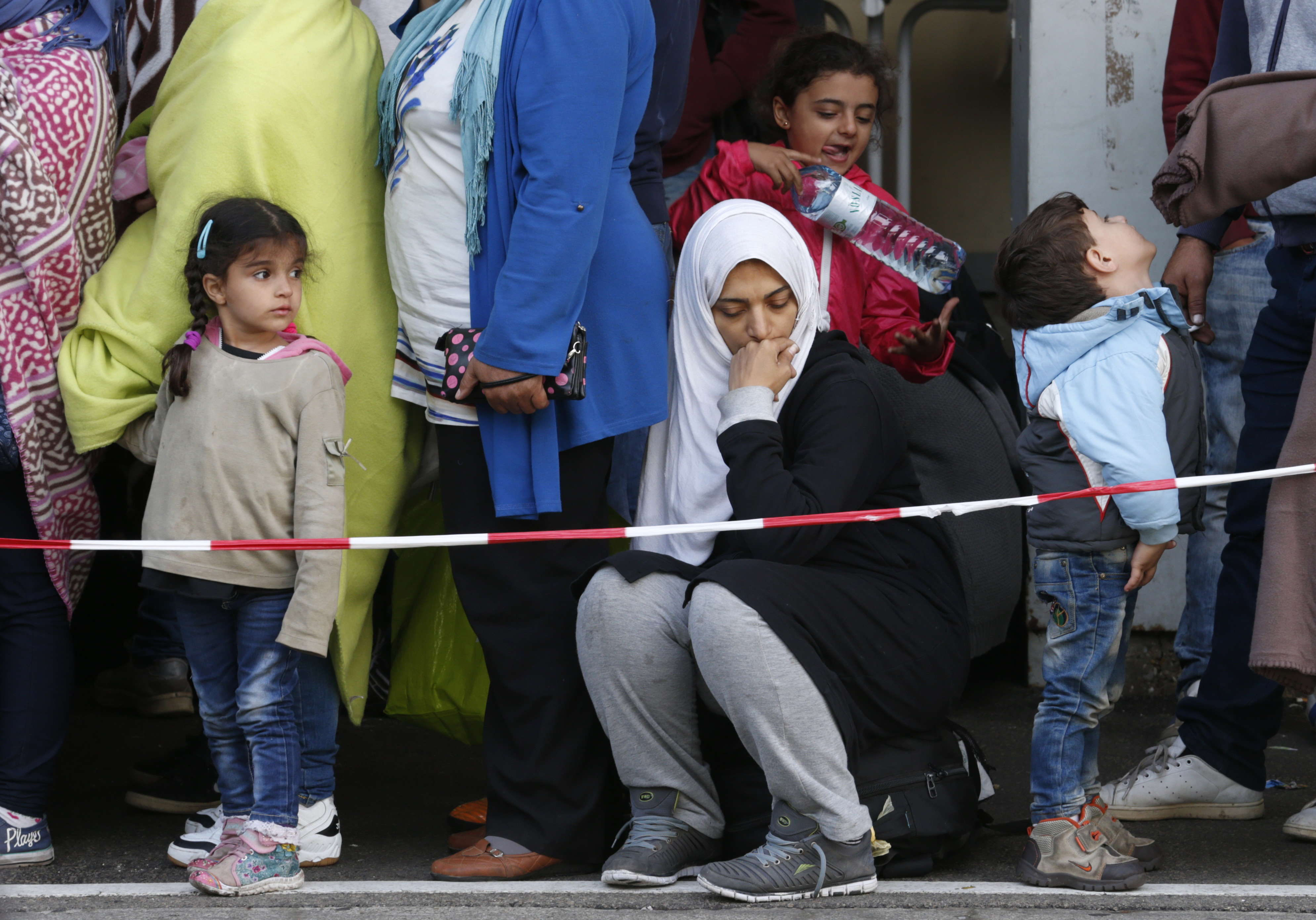 Migrants wait for trains at the Wien Westbahnhof in Vienna, Austria, on Sept. 10, 2015. Photo by Heinz-Peter Bader/Reuters